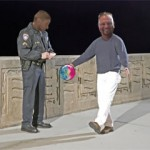 Officer Hofmann cites Dennis Walling for bowling while sober